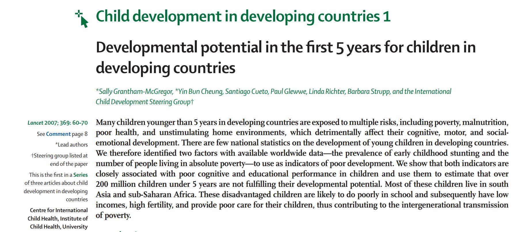 ninitest.com |     ما دیگر نمی توانیم عدم تحرک را توجیه کنیم.پتانسیل تکاملی کودکان زیر پنج سال در کشورهای در حال توسعه